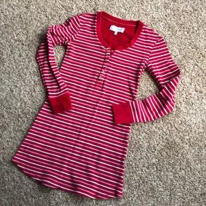 Victoria's Secret thermal holiday stripe pjs s